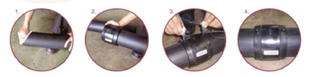 Penyambungan pipa HDPE Electro Fusion
