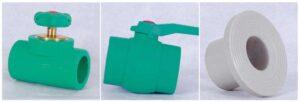 Fitting PPR Straight Way Valve, Ball Tap Plastic dan Flange Adaptor