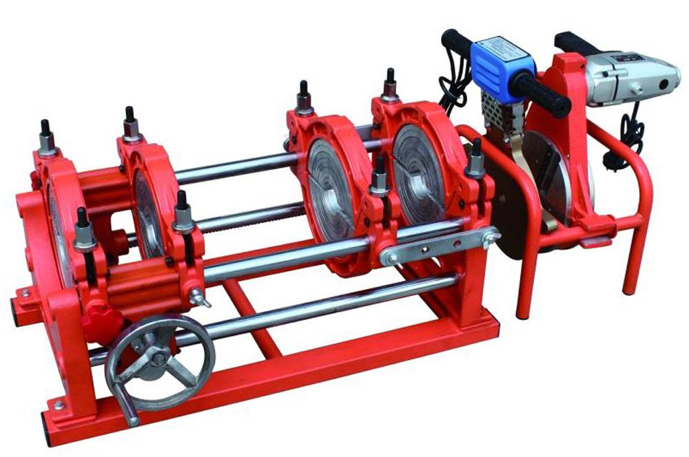 Mesin Las Pipa HDPE dengan Tuas Pemutar Manual